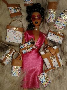 Just Finished Shopping ; Beautiful Barbie Dolls, Vintage Barbie Dolls, Barbie Dress, Barbie Clothes, Diva Dolls, Dolls Dolls, Barbie And Ken, Hello Barbie, African American Dolls