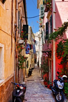 Old Town - Corfu, Greece