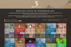 Silph Road's Infographic with updated max CP of each pokemon including Gen2