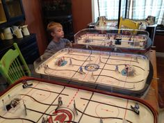 Dad which should we play? Play Table, Hockey Games, Fun, Ice Hockey, Playroom Table, Hilarious