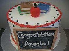 Blackboard graduation cake