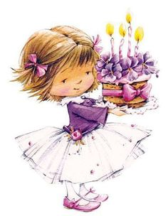 Feechka (pictures for decoupage) - Decoupage - Country Mom Happy Birthday Cards, Birthday Greetings, Birthday Wishes, Birthday Cake, Happy Birthday Little Girl, Illustration Mignonne, Cute Illustration, Birthday Pictures, Birthday Images