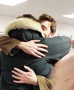 Matt Smith and David Tennant Hugging. Too much cute. TOO MUCH CUTE!