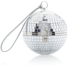 Dolce & Gabbana     Discoball Bag ($3,995) via Polyvore featuring bags, handbags, silver, white bag, ball purse, ball bag, evening bags and cocktail purse
