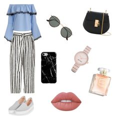 """""""Untitled #6"""" by andreeaberecz on Polyvore featuring River Island, Topshop, Chloé, Ray-Ban, Recover, Nine West and Lime Crime"""