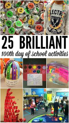 Day of School Activities 25 Brilliant day of school activities. Craft projects, math games, writing projects and tons Brilliant day of school activities. Craft projects, math games, writing projects and tons more. 100 Day Of School Project, School Projects, Craft Projects, 100th Day Project Ideas, 100th Day Of School Crafts, School Holiday Activities, Summer Activities, Math Games, Math Activities