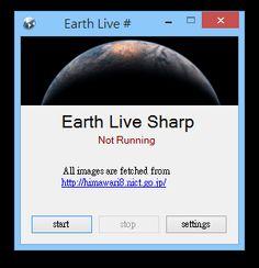 Earth Live Sharp 將衛星拍攝的地球全景自動設為電腦桌面,自訂更新間隔頻率