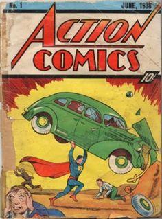SOY BIBLIOTECARIO: Cuánto se pagó por el primer comic de Superman
