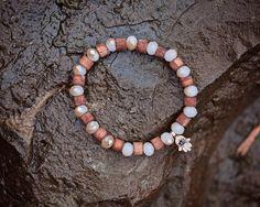 Beaded Hamsa Bracelet, Wood Beaded Hamsa Bracelet, Glass Beaded Hamsa Bracelet, Gold Hamsa Bracelet, Wood Beads, Glass Beads