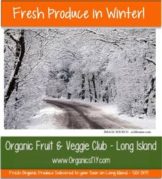 """We work with terrific Organic Farms across the country so YOU can still have the freshest organic produce even in the Winter! We buy in bulk and pass the savings on to you - so as the price of produce (with chemicals to keep it """"fresh"""") in the grocery goes up - you still get fresh, healthy and organic produce at a great price - even when it is snowing and cold! See Link: http://statictab.com/7qbvzh9"""