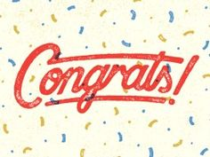 Congrats! by Nathan Yoder via We Love Typography