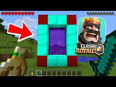 HOW TO MAKE A PORTAL TO THE CLASH ROYALE DIMENSION - MINECRAFT CLASH ROYALE - YouTube
