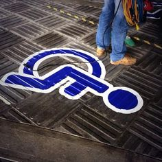 STREETRAP Floor Graphic in an industrial setting