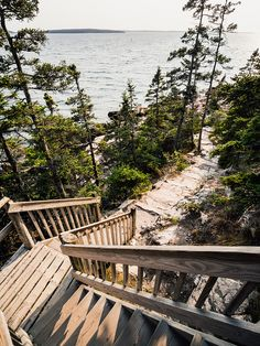 Acadia National Park, path down one side of Bass Harbor Lighthouse. Lots of rocks to climb over, but it's an adventure! Best Places To Camp, The Places Youll Go, Places To See, Vacation Places, Places To Travel, Travel Destinations, Acadia Maine, Acadia National Park Camping, Desert Island