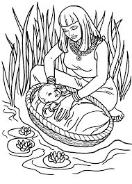 Moses And The Burning Bush Coloring Page