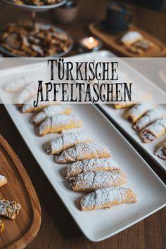 Turkish apple bags (elmalı kurabiye) - Today is time for sweets. Homemade cezerye and Turkish apple bags (elmalı kurabiye). Apple Desserts, Healthy Desserts, Turkish Recipes, Baking Recipes, Pasta Recipes, Finger Foods, Baked Goods, Sweet Recipes, Bakery