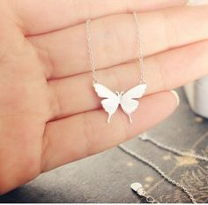 Pure 925 Sterling Silver Butterfly NecklaceFine or Fashion: FashionItem Type: NecklacesPendant Size: same as pictureStyle: TrendyNecklace Type: Pendant Necklace