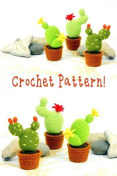 Mesmerizing Crochet an Amigurumi Rabbit Ideas. Lovely Crochet an Amigurumi Rabbit Ideas. Minion Crochet Patterns, Crochet Cat Pattern, Crochet Flower Patterns, Crochet Flowers, Cactus Craft, Cactus Cactus, Crochet Home, Cute Crochet, Cactus Keychain