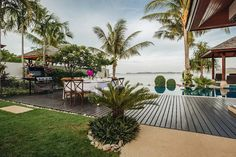Koh Samui Holiday Villa #kohsamui #samui #thailand #asianluxuryvillas _____________________ Amazing beachfront villa on the north coast of Samui