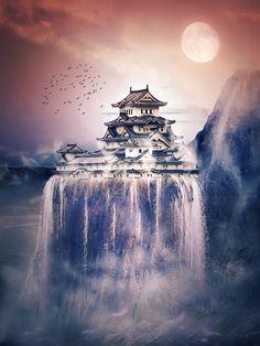 Japan landscape by lorency.deviantart.com