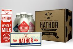 Hathor Creamery by Michael Vilayvong, via Behance