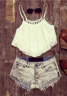 """A"" Hem Lace Crop Top- The Coachella look"