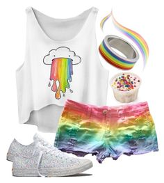 """LGBT"" by m4k4y14 ❤ liked on Polyvore featuring Rush Industries, Converse, white, rainbow, pride, lgbt and 2016"