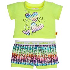 Justice Bright Yellow Active Outfit 2 pc. - Build-A-Bear Workshop US