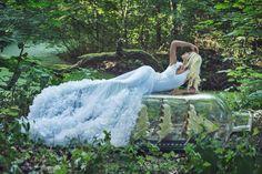 Poppy white dress made by Ewa Jobko - Costume Designer