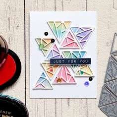 Buy Triangle Background Set Metal Cutting Dies Stencil for DIY Scrapbooking Photo Album Paper Card Decorative Craft Diecuts at Wish - Shopping Made Fun Scrapbooking Usa, Scrapbook Paper Crafts, Diy Scrapbook, Scrapbook Albums, Paper Crafting, Paper Cards, Diy Cards, Men's Cards, Stencil Diy