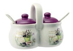 Keramická dóza s lyžičkami Lavender Sugar Bowl, Bowl Set, Lavender, Catalog