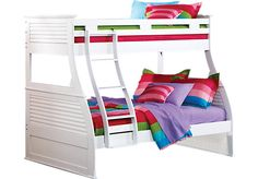 picture of Belmar White 4 Pc Twin/Full Bunk Bed from Bunk/Loft Beds Furniture