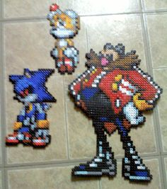 sandylandya@outlook.es  Team Eggman Sonic perler beads by TomatoisJPhansburg
