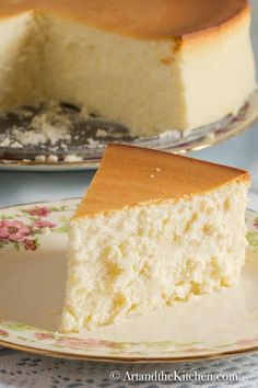 Incredible Tall and Creamy New York Cheesecake. This crustless cheesecake is the best cheesecake ever! Brownie Cheesecake Bites, Best Cheesecake, Homemade Cheesecake, Easy Cheesecake Recipes, Cheesecake Desserts, Cake Mix Recipes, Dessert Recipes, Brownie Cake, Pie Dessert