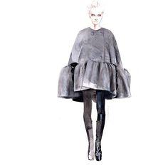 Fashion illustration for Balenciaga // Antonio Soares Illustration Mode, Fashion Illustration Sketches, Illustration Techniques, Fashion Sketchbook, Fashion Design Sketches, Mode Collage, Fashion Figures, Watercolor Fashion, Mannequins