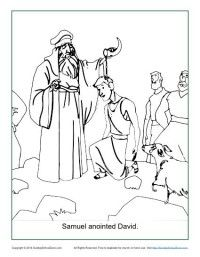 Samuel Anointed David Bible Coloring Page