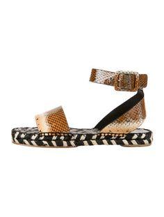 Proenza Schouler Snakeskin Sandals w/ Tags