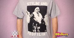 Stylin And Profilin Ric Flair T-Shirt made by Freeze in collections: 80s TV: Wrestling, & Department: Adult Mens, & Color: Gray