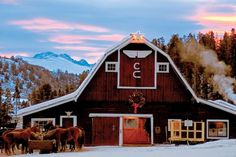 C Lazy U Ranch, near Winter Park, CO includes a spa, and family style dinners.  #barn