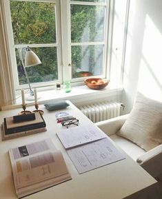 Awesome writing space—we love the natural light! http://writersrelief.com/