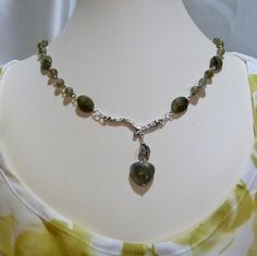 Labradorite Heart and Silver Branch Chain Necklace by tbyrddesigns, $39.00