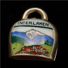 Cowbell Charm Sterling Silver Enamel Vintage Souvenir Interlaken Cow Bell Cowbell, Charm Rings, Ebay Listing, Ebay Auction, Silver Enamel, Old And New, Austria, Switzerland, Germany
