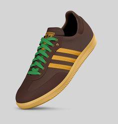 Adidas Samba (Strong Brown/Craft Gold/Real Green)