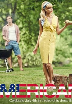 """""""American Beauty"""" Spring Summer Fashion Editorial with Models Lena Lomako & Alejandro Rodriguez. Photographed by Nisian Hughes. Creative, Fashion, Photo, Art Direction & Styling by Vinny Michaud. Lena Lomako Does 50's July 4Th, BBQ, Spring Summer Editorial Fashion by Stylist Vincent Michaud. http://www.vincentmichaud.vision/editorialstyle/"""