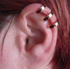 Sterling Silver Ear Cuff 3 Ring Ear Cuff Triple Ear cuff