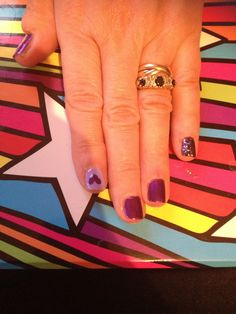 How to Do Beautiful Purple Nails