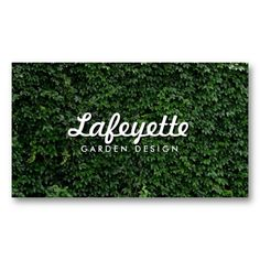 Natural Green Leaf Wall Eco-Friendly Garden Designer, Landscaper, Green Biz Business Cards