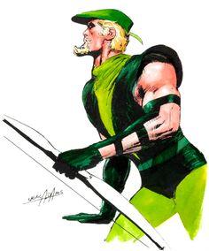 Green Arrow art by Neal Adams.