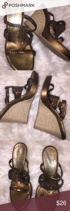 Super cute shoes . Must have Beautiful like new condition. Copper rose gold color. Make offer. BCBG Shoes