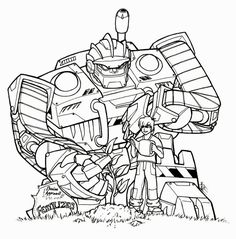 Transformer Rescue Bots Coloring Pages